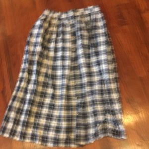 Button-Up SADDLEBRED Long Modest Checked SKIRT!